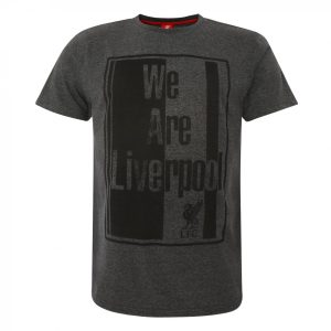 LFC Mens We Are Liverpool Charcoal Marl Tee