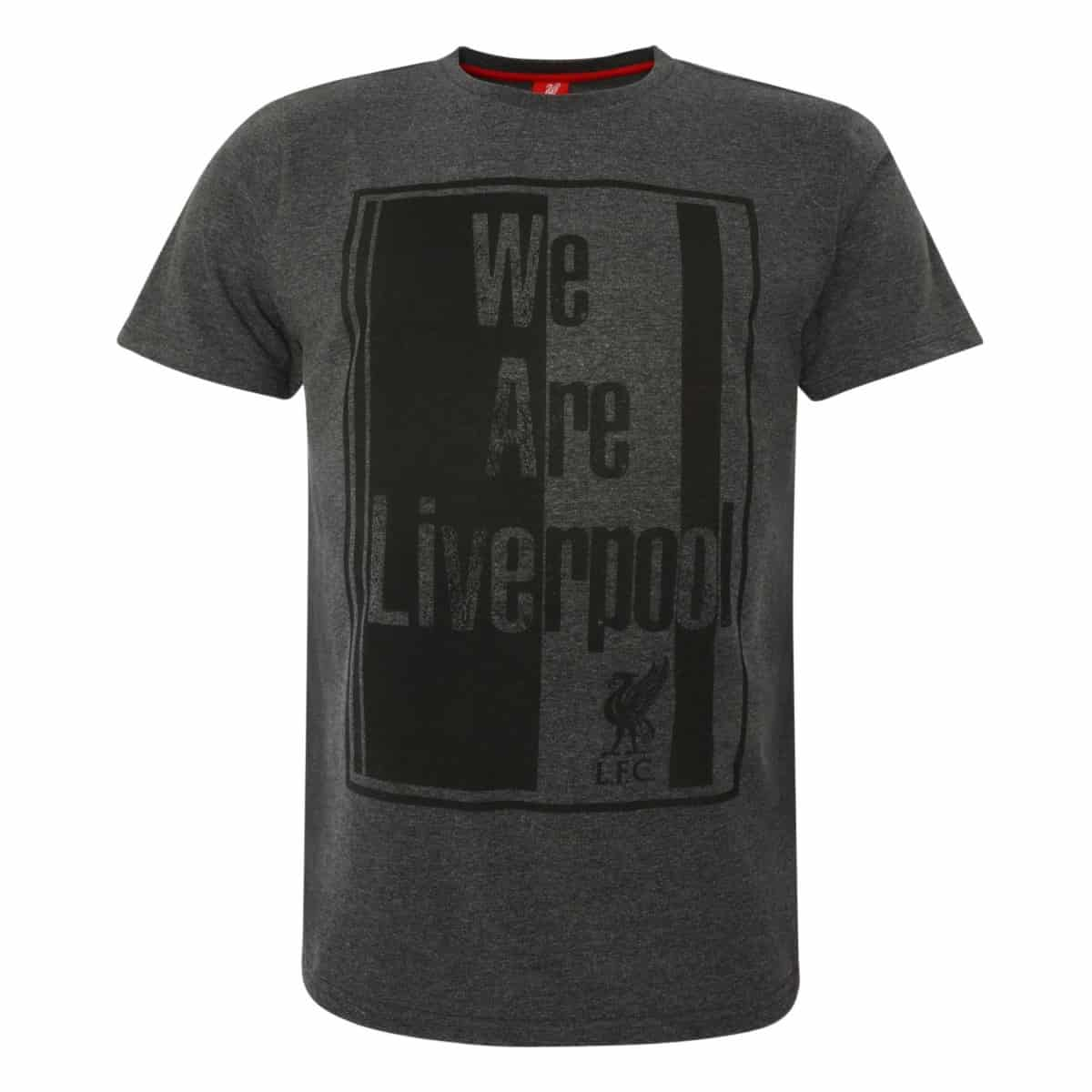 LFC Mens We Are Liverpool Charcoal Marl Tee