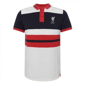 LFC Mens White Panel Polo