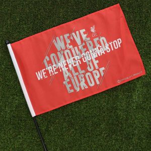 LFC WE'RE NEVER GONNA STOP HANDHELD FLAG