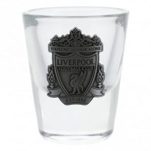 LFC Crest Shot Glass with metal plaque