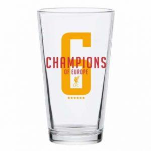 6 Times Champions Pint Glass